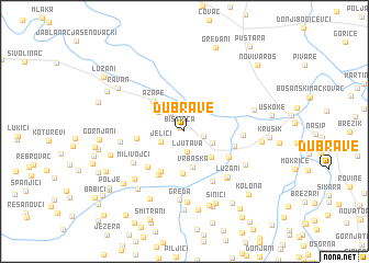 map of Dubrave