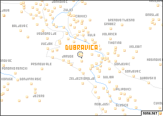 map of Dubravica