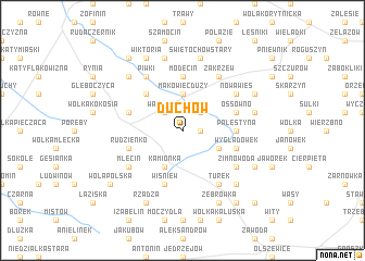 map of Duchów