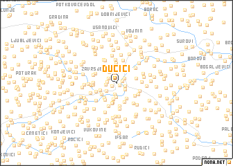 map of Dučići
