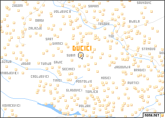 map of Dučići