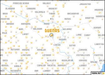map of Dueñas