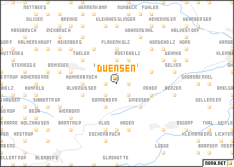 map of Duensen