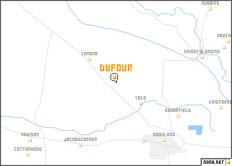 map of Dufour