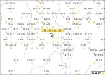 map of Dugde Guda