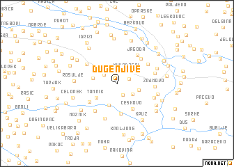 map of Dugenjive