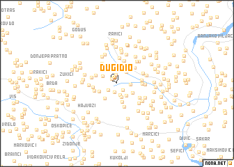 map of Dugi Dio