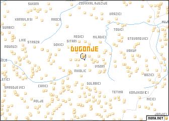 map of Dugonje