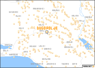 map of Dugopolje