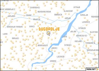 map of Dugo Polje