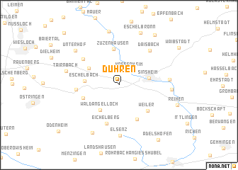 map of Dühren