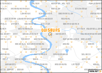 Duisburg Germany map nonanet