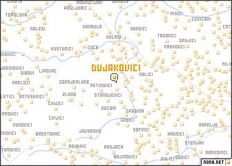 map of Dujakovići