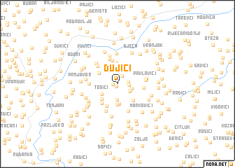 map of Dujići