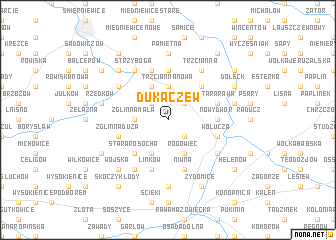 map of Dukaczew