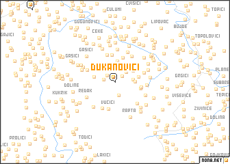 map of Ðukanovići