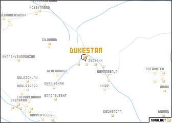 map of Dūkestān