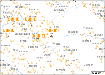 map of Ðukići