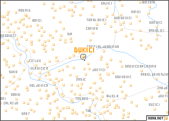 map of Dukići