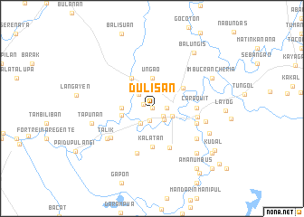 map of Dulisan