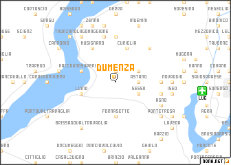 map of Dumenza