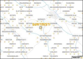 map of Dumitreşti