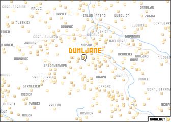 map of Dumljane