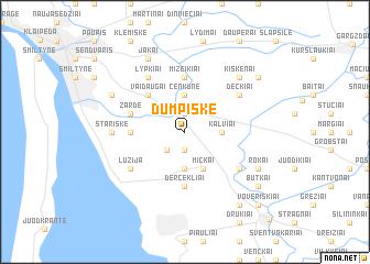 map of Dumpiškė