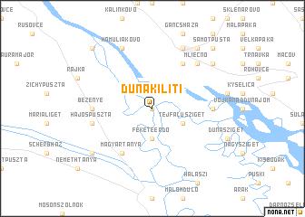 map of Dunakiliti