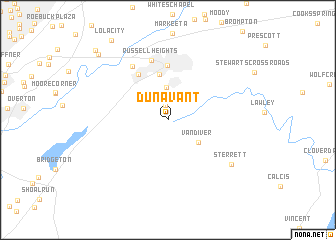 map of Dunavant