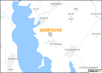 map of Dunayevka