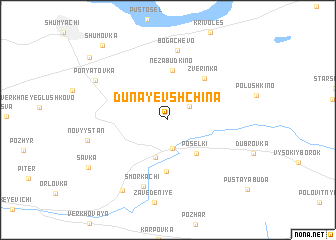map of Dunayevshchina