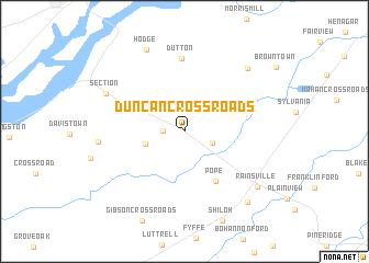 map of Duncan Crossroads
