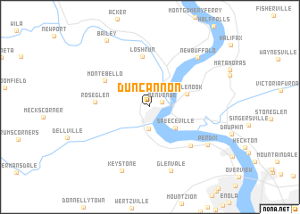 map of Duncannon