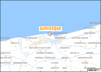 Dunkerque France map nonanet