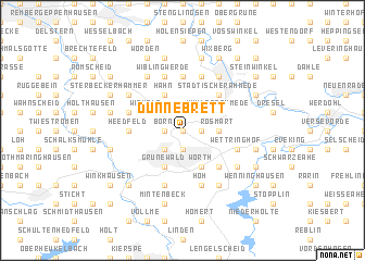 map of Dünnebrett
