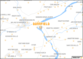 map of Dunnfield