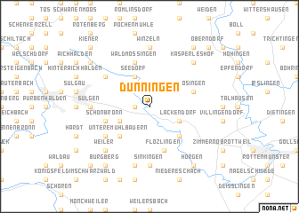 map of Dunningen