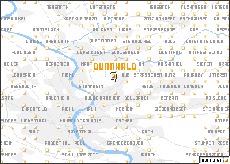 map of Dünnwald