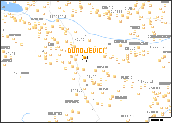 map of Dunojevići