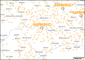 map of Durakovići