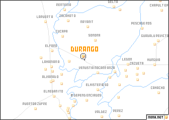Durango (Mexico) map   nona.net