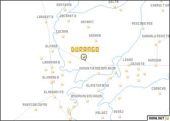 durango mexico map nona
