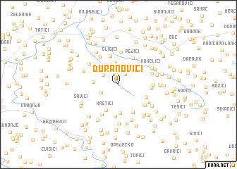 map of Ðuranovići