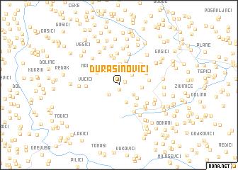 map of Ðurašinovići