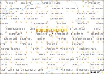 map of Durchschlacht