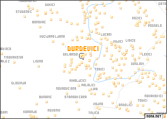 map of Ðurđevići