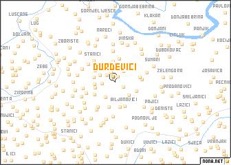 map of Ðurđevići