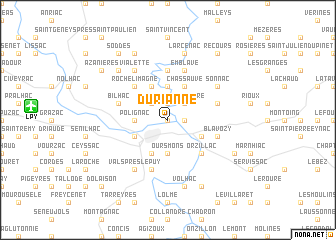 map of Durianne
