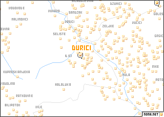 map of Ðurići